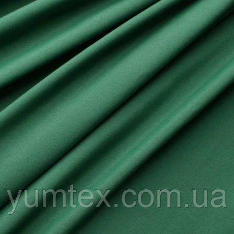 Однотонная хлопковая ткань канзас, 75 % хлопок, цвет темно-зеленый
