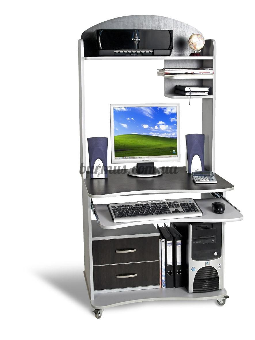 Передвижной компьютерный стол СК-1, 80*65, алюминий+ венге магия