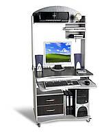Передвижной компьютерный стол СК-1, 80*65, алюминий+ венге магия, фото 1