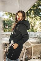 Парка женская теплая, утеплитель синтепон 200 и мех внутри куртки, 4расцветки яя № 01319