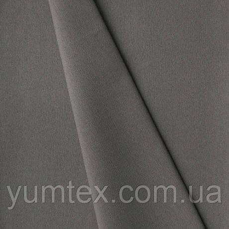 Однотонная хлопковая ткань Канзас, 75 % хлопок, цвет темно-серый-бежевый