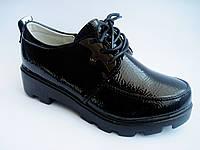 Детские / подростковые лаковые туфли на тракторной подошве для девочки, р. 32-37