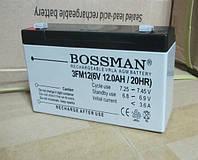 Аккумулятор для детских электромобилей Bossman 6V12Ah profi (3fm12)