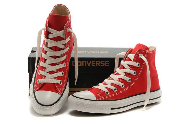 Кеды Converse All Star Replica высокие красные, фото 2
