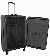 Вместительный 4-колесный тканевый чемодан-гигант 103/113 л. Roncato IRONIC 415121 01 черный, фото 2