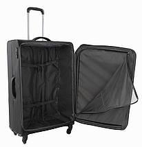 Вместительный 4-колесный тканевый чемодан-гигант 103/113 л. Roncato IRONIC 415121 01 черный, фото 3