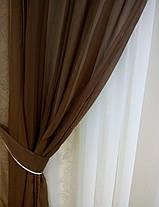 Комплект штор из вуали (Темный Шоколад), фото 2