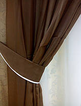 Комплект штор из вуали (Темный Шоколад), фото 3