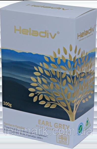 Черный чай Heladiv Earl Grey с ароматом бергамота, 100 г
