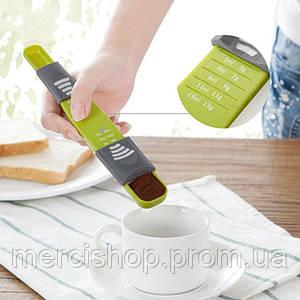 Двухсторонняя регулируемая мерная ложка (для выпечки/готовки), полезно