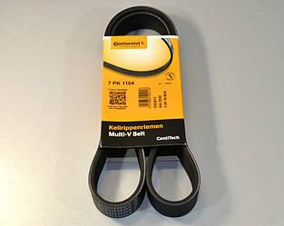 Ручейковий ремінь на Renault Master II 2.2 dCi+2.5 dCi 11.2004->2010 (ALT, -AC) ContiTech (Німеччина) 7PK1104