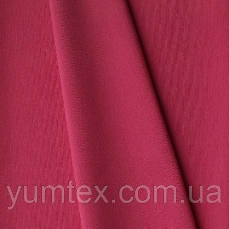 Однотонная хлопковая ткань Канзас, 75 % хлопок, цвет ярко-розовый