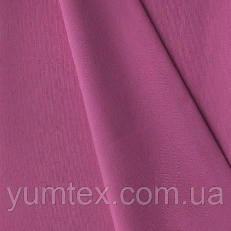 Однотонная хлопковая ткань Канзас, 75 % хлопок, цвет фуксия