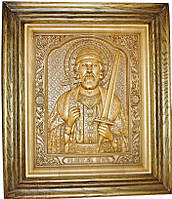 Икона деревянная резная Святого князя Игоря Черниговского, фото 1