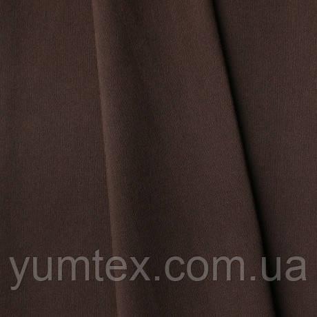 Однотонная хлопковая ткань Канзас, 75 % хлопок, цвет темно-коричневый