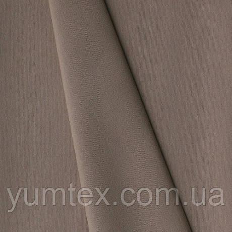 Однотонная хлопковая ткань Канзас, 75 % хлопок, цвет темно-бежевый