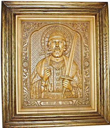 икона резная деревянная игоря черниговского
