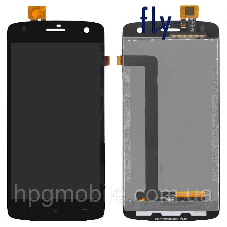 Дисплей для Fly IQ4503 Era Life 6 Quad, модуль в сборе (экран и сенсор), черный, оригинал