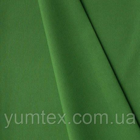Однотонная хлопковая ткань Канзас, 75 % хлопок, цвет зеленая трава
