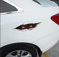 Большая наклейка для автомобиля 3D глаза 40см