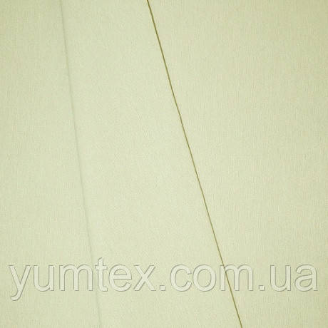 Однотонная хлопковая ткань Канзас, 75 % хлопок, цвет ванильный