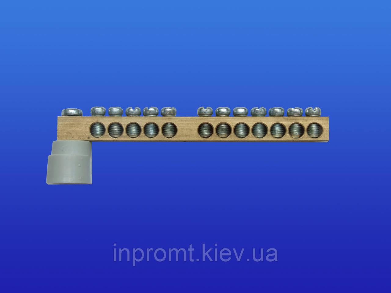 Клемная колодка латунная 0-90 с уголковым изолятором