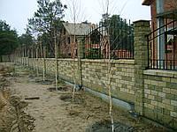 Кирпич декоративный модульный угловой ЭЛИТ цвет на белом цементе (желтый,бежевый,персиковый, белый,черный)