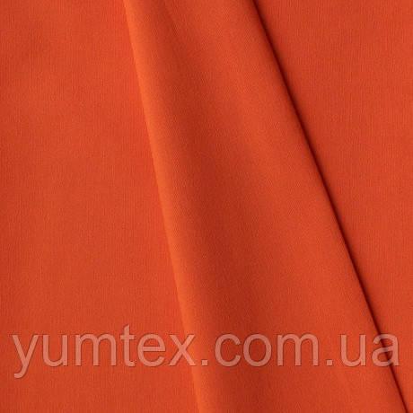 Однотонная хлопковая ткань Канзас, 75 % хлопок, цвет мандариновый