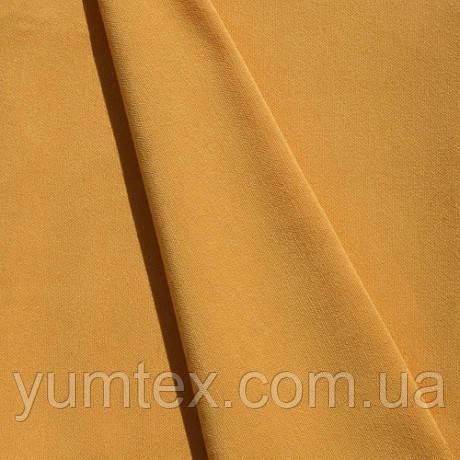 Однотонная хлопковая ткань Канзас, 75 % хлопок, цвет желтый