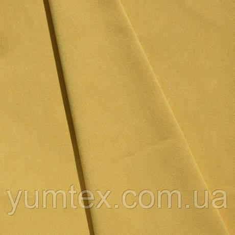 Однотонная хлопковая ткань канзас, 75 % хлопок, цвет одуванчик