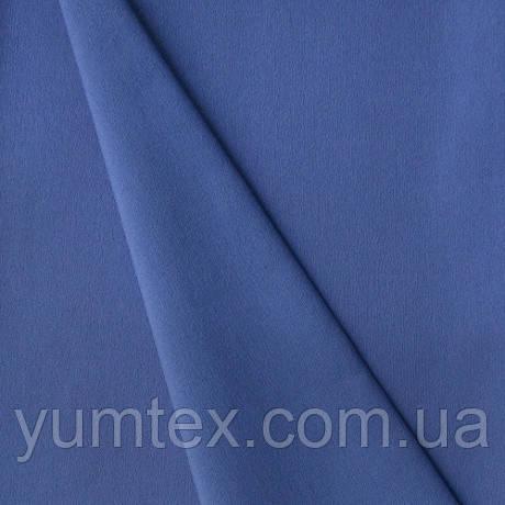 Однотонная хлопковая ткань Канзас, 75 % хлопок, цвет василек