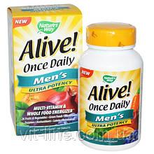 Nature's Way, Alive! Раз в день, мультивитамины для мужчин, 60 таблеток
