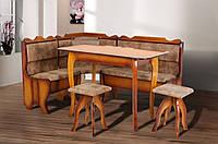 Мягкий кухонный уголок Даллас  со столом и 2 табуретками