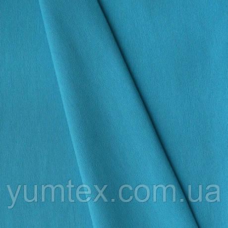 Однотонная хлопковая ткань канзас, 75 % хлопок, цвет небесно-голубой