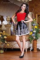Черная юбка с перфорированным низом 42-46 размеры 0716