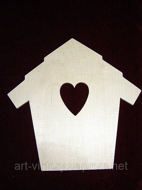 Ключница домик с сердечком