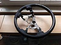 Руль Toyota Land Cruiser 200 (черная кожа, темное дерево)