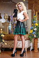 Черная юбка с перфорированным низом 42-46 размеры 0710