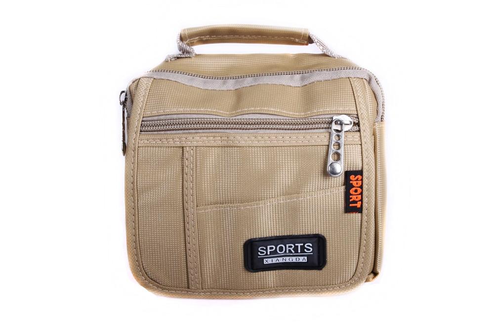 Мужская текстильная сумка 302779 бежевая