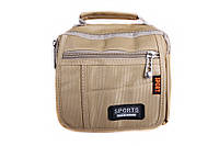 Небольшая мужская сумка бежевого цвета 302779