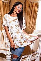 Блузка свободная в цветах 329 Велика