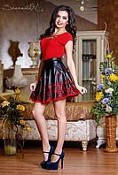 Черная юбка с перфорированным низом 42-46 размеры 0709