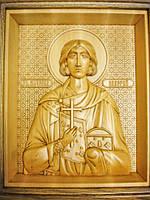Икона деревянная резная именная Святого Мученика Валерия Севастийского, фото 1