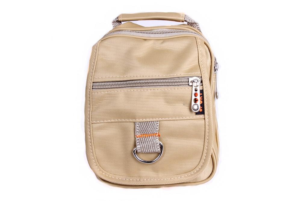 Мужская текстильная сумка 302786 бежевая