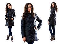Куртка женская теплая с карманами - Черный  (оптом)