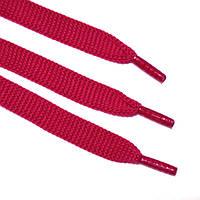 Шнурок 9 мм плоский красный 120 см