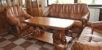 Кожаный диван Oskar, кожаная мебель Pyka. антикварні меблі