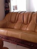Кожаный диван и 2 кресла Leon, кожаная мебель