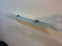 Полка стеклянная прямая 5 мм матовая 50 х 10 см, фото 1