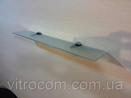 Полиця скляна пряма 4 мм матова 50 х 10 см